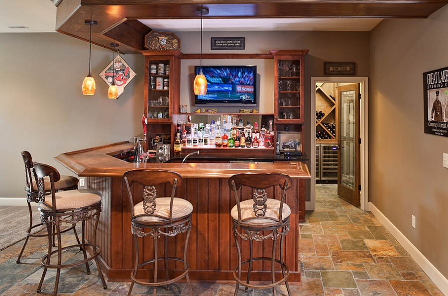 basement bar ideas ... basement bar complete with a wine cellar [design: build cincinnati of ZZDLTSG